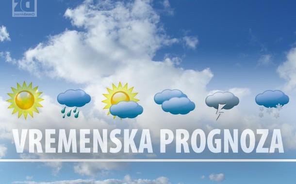Sutra sunčano, mjestimično sa kišom