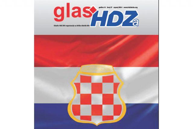 Ustaška šahovnica na naslovnici »Glasa HDZ-a«!