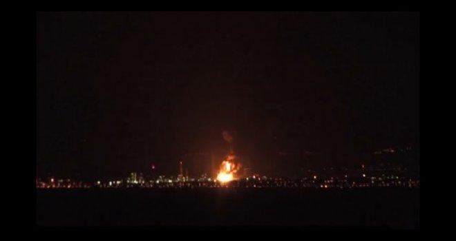 """Photo of Veliki požar u Rafineriji nafte """"Milazo"""" na Siciliji"""
