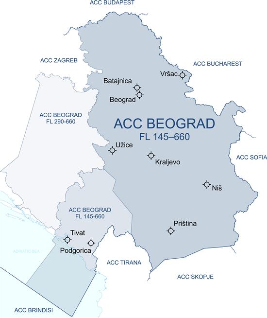 Beograd i dalje nadzire gornji dio vazdušnog prostora