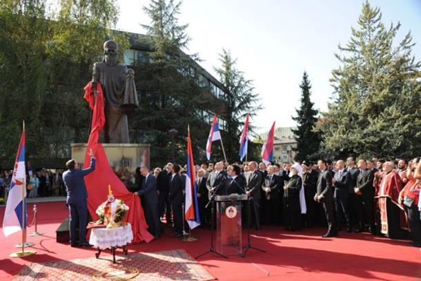 Otkriven spomenik Stefanu Nemanji u Banjaluci