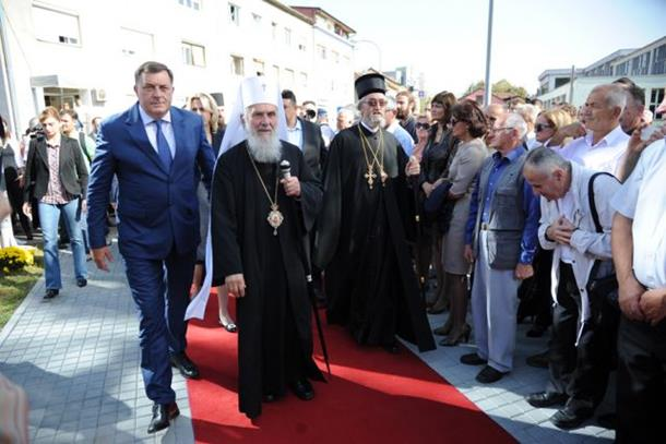 Patrijarh Irinej poželio da Dodik i dalje vodi narod RS