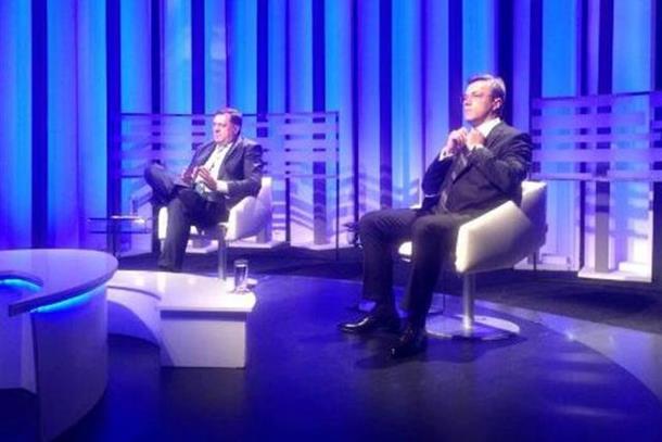 Dodik ubjedljivo nadmašio Tadića u TV duelu