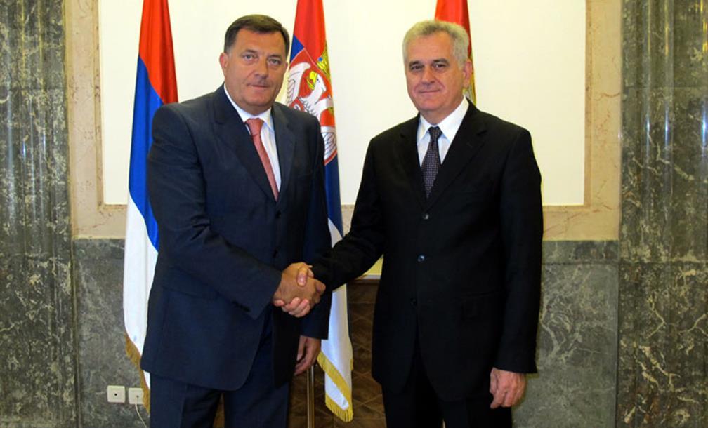 Dodik i Nikolić sutra na prijemu u Beogradu povodom Dan Republike Srpske