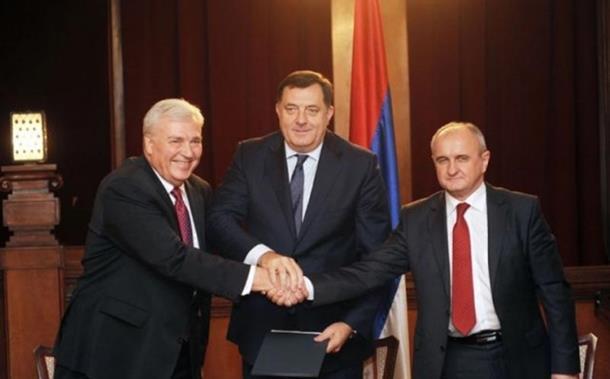 Photo of Potpisan Sporazum o zajedničkom djelovanju SNSD-a, DNS-a i SP-a