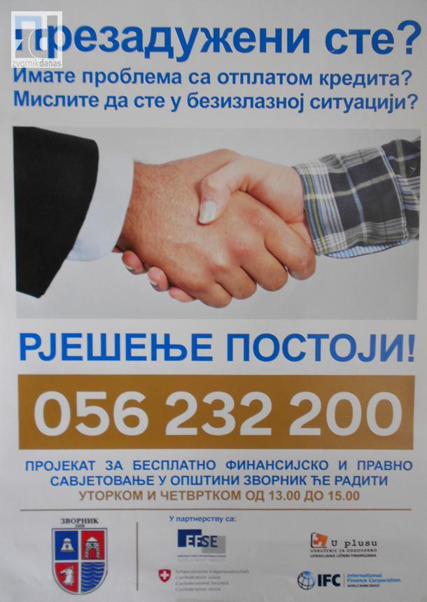Photo of Opština Zvornik omogućava besplatno savjetovanje prezaduženim građanima