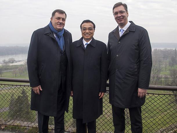 Vučić, Li Kećijang i Dodik prošetali Kalemegdanom