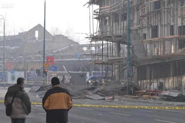 SARAJEVO: Pala skela na zgradi u izgradnji, dvoje poginulih