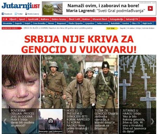 HRVATSKI MEDIJI U ŠOKU: Srbija nije odgovorna za genocid u Vukovaru!