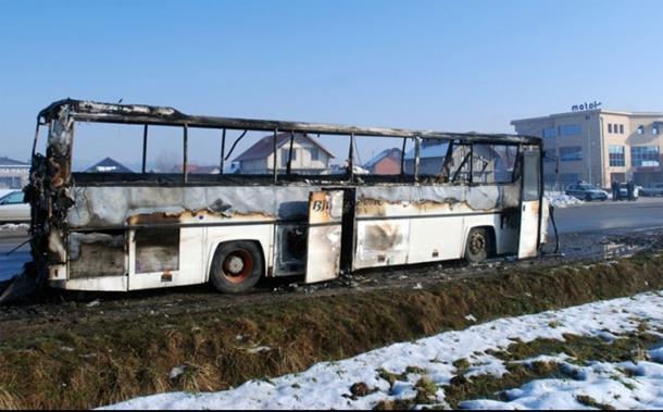 Izgorio autobus u Maslama kod Kalesije
