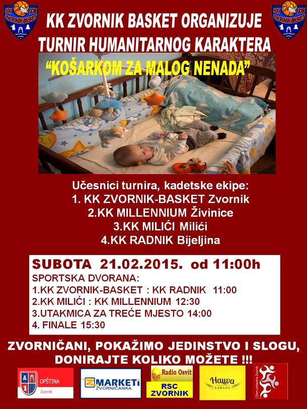 "Photo of POMOZIMO MALOM NENADU JOKIĆU: KK ""Zvornik basket"" organizuje humanitarni turnir"