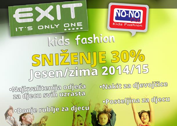 Photo of 30% sniženje u butiku EXIT KIDS