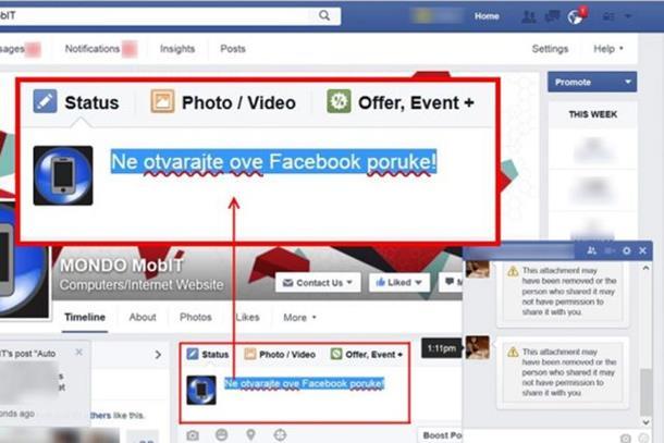Novi virus zahvatio Fejsbuk