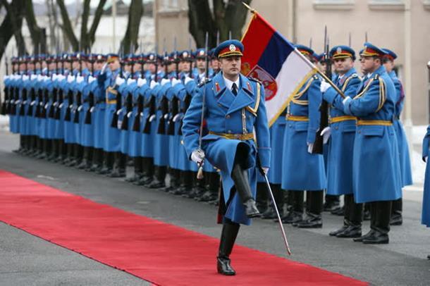 Srpska garda spremna za paradu u Moskvi