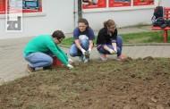 Učenici uredili park i zasadili cvijeće