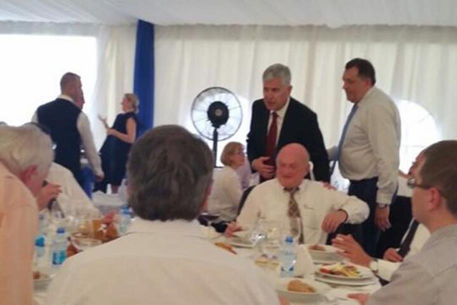Dragan Čović gost na krsnoj slavi Milorada Dodika
