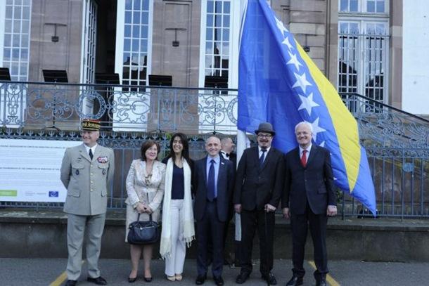 Photo of Podignuta zastava BiH u Strazburu
