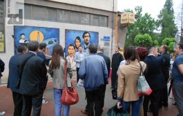 Predstavljen mural na zgradi zvorničke Pošte, pozorišna predstava kao poklon Ljubovije