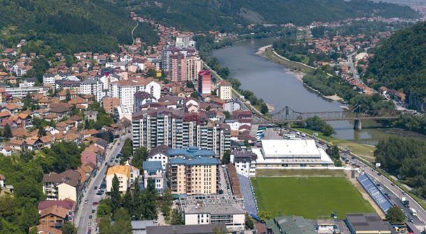 Zvornik grad panorama