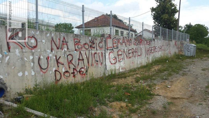 Photo of U Capardama grafiti podrške Naseru Oriću: Čekamo zapovjed generalu…