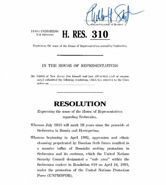 Predložena rezolucija
