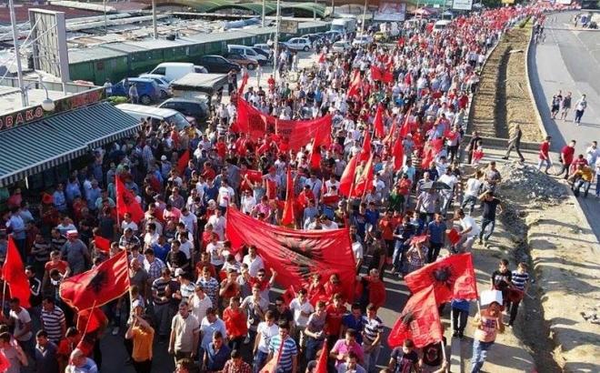 Protest Albanaca u Skoplju