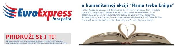 """EuroEkspres podrška humanitarnoj akciji """"Nama treba knjiga"""""""