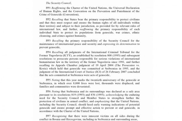 Photo of Evo šta piše u britanskoj rezoluciji o Srebrenici
