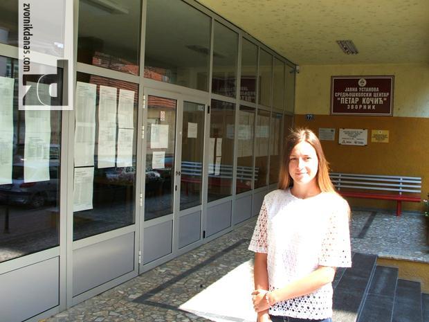 Photo of Kristina Žugić svršeni učenik Ekonomske škole bez ijednog izostanka u  toku školovanja