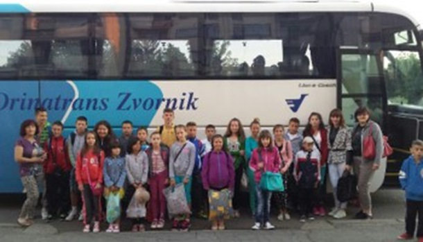 Na ljetovanju dvanaestoro djece iz porodica RVI iz Zvornika
