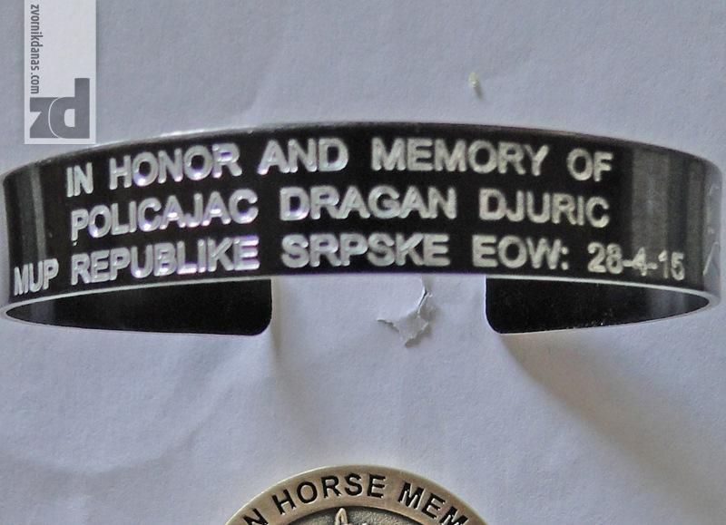 Photo of Američki policajac poslao u Zvornik narukvicu u spomen na Dragana Đurića