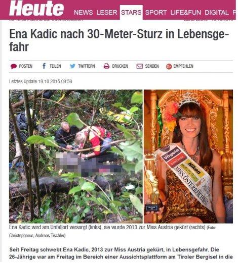 Photo of Bosanka Ena Kadić pala sa obronka visokog 30 metara u Austriji