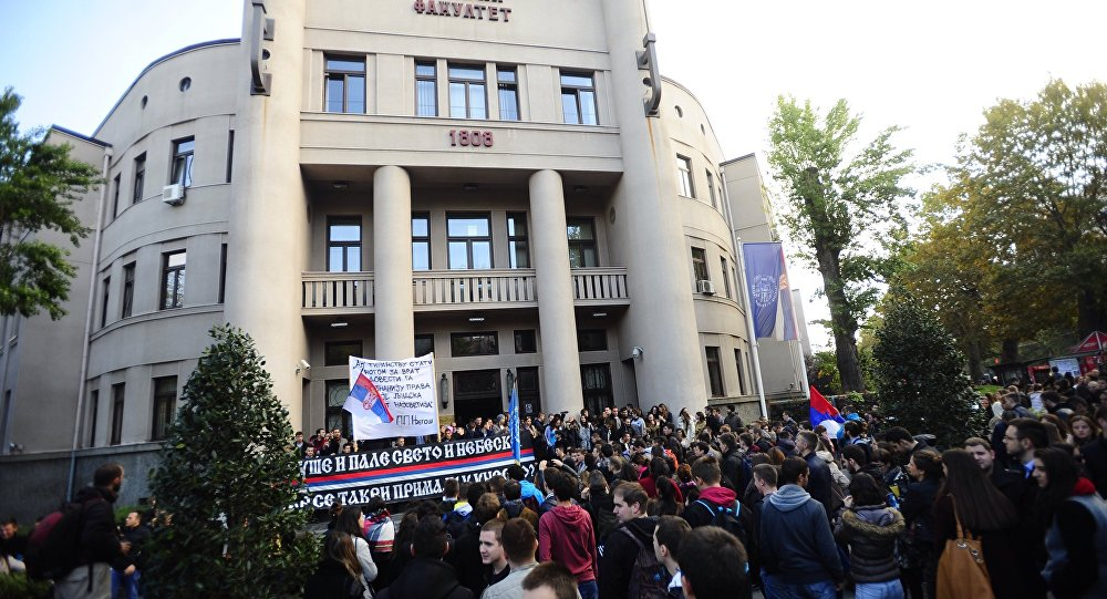 Studenti protiv ulaska Kosova u Unesko