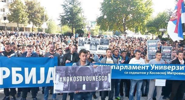Protesti protiv učlanjenja Kosova u Unesko