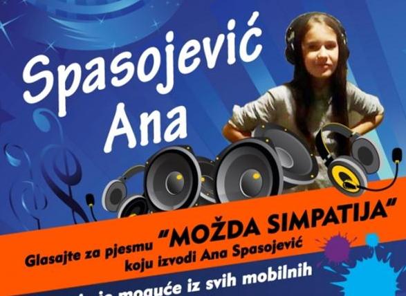 """Photo of Ana Spasojević iz Zvornika, učesnica finalne večeri festivala """"Mali kompozitor"""""""