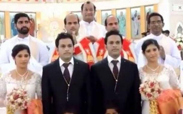 Photo of Blizanci se oženili bliznakinjama, vjenčali ih blizanci