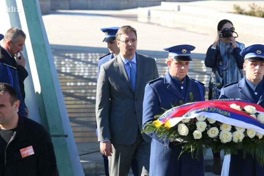 Konferencija u Srebrenici: Vučić položio cvijeće u Potočarima