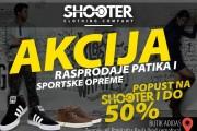 Akcija rasprodaje patika i sportske opreme u butiku Adidas