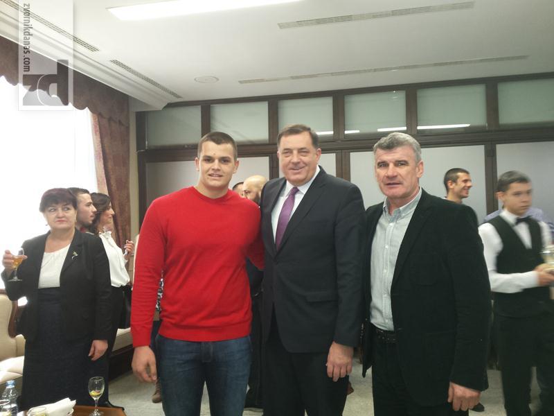 Photo of Vasilije Vujičić na prijemu kod predsjednika RS