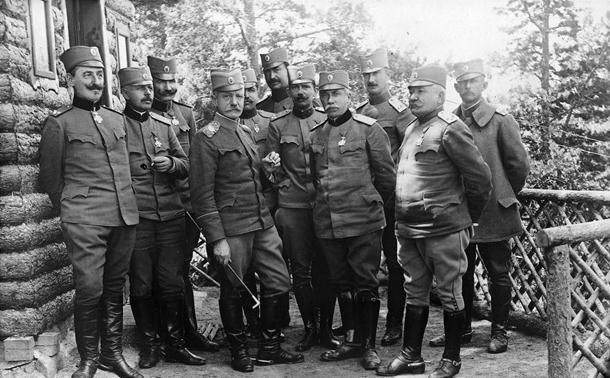 Vojvoda Živojin Mišić sa štabom Prve armije