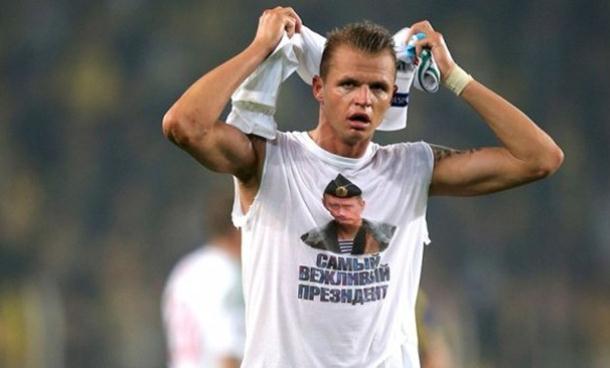 Photo of Suspenzija fudbalera zbog majice sa likom Putina