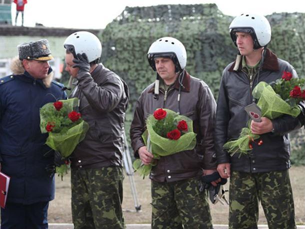 Doček ruskih pilota po povratku iz Sirije (video)