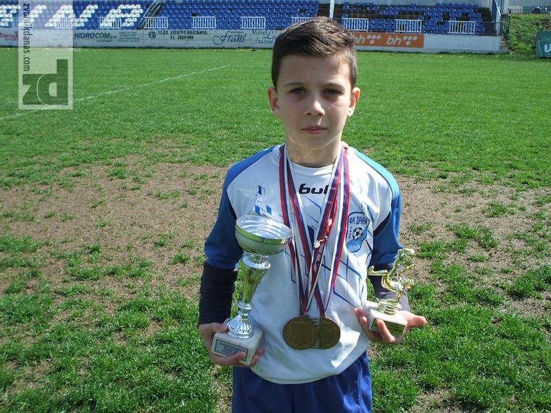 Photo of Nikola Mićić jedan od bisera Škole fudbala Drine iz Zvornika