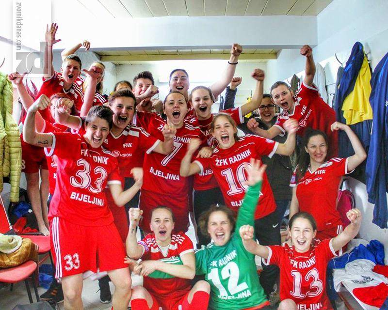 Zvorničanke u glavnim ulogama: Ženski fudbalski klub Radnik Bumerang izborio plasman u finale Kupa BiH