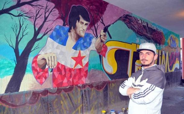 Bijeljina dobila mural posvećen Draganu Nikoliću