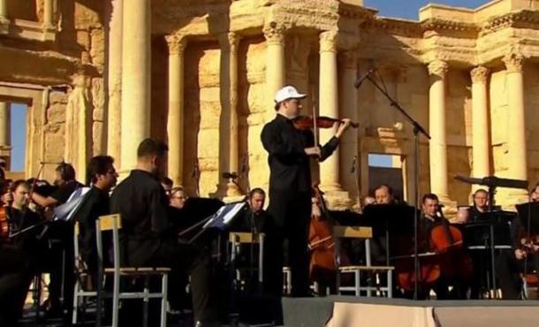 Photo of Ruski simfonijski orkestar nastupio u amfiteatru Palmire (video)