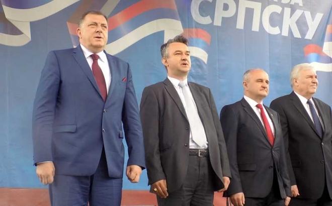 Završen miting vlasti, Dodik pozvao okupljene da se mirno raziđu
