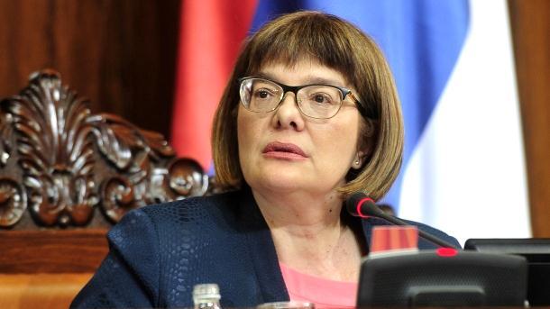 Maja Gojković ponovo izabrana za predsjednika Skupštine Srbije