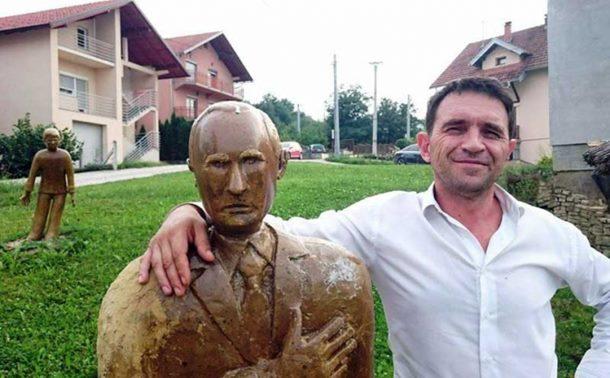 Stevo napravio Putina od blata