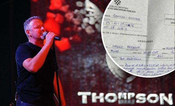 Prijava za Tompsona zbog ustaškog pokliča